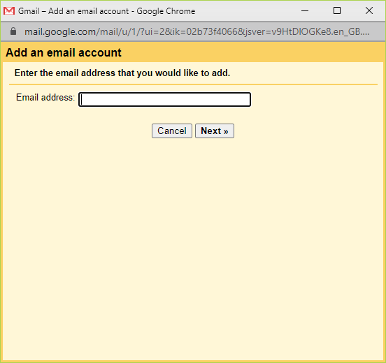 Gmailify Prompt Screen